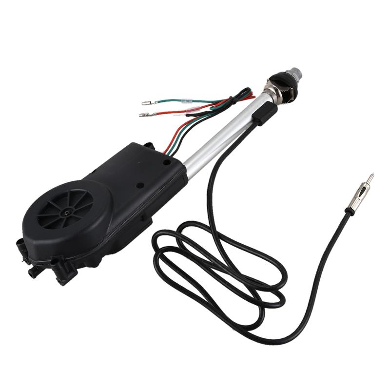1X Conjunto de antena electrica de propulsion automatica de radio de coche ne 2O