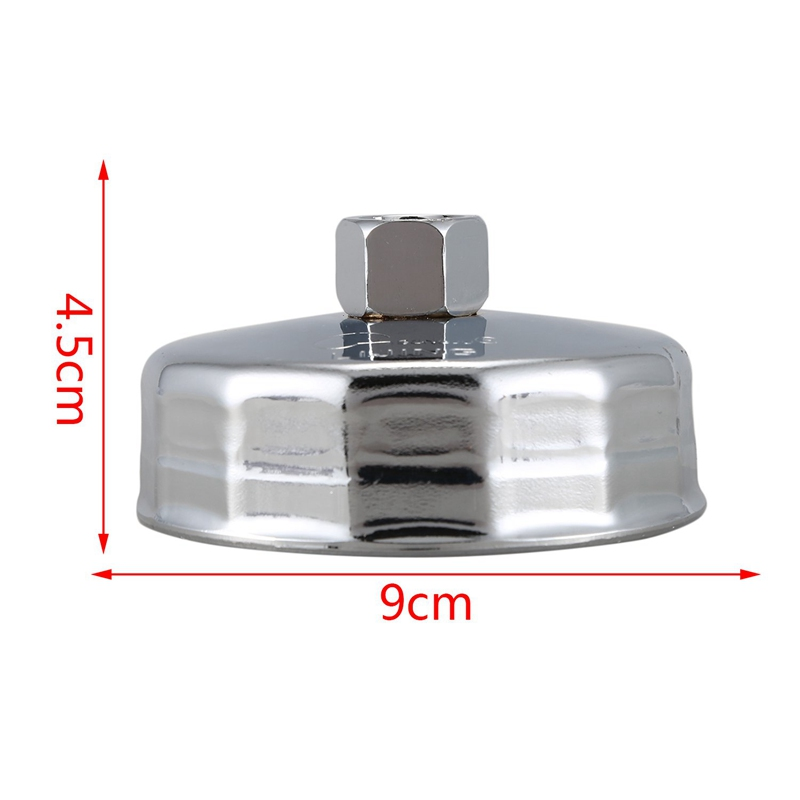 84mm 14 Flutes Oil Filter Cap Wrench Socket Cup Tool for Vehicle Car Z6U1