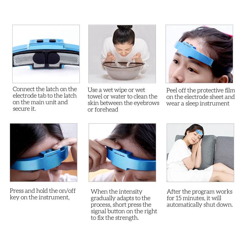 Testa massaggiatore casco cuoio capelluto cervello relax vibrazione elettrica ag