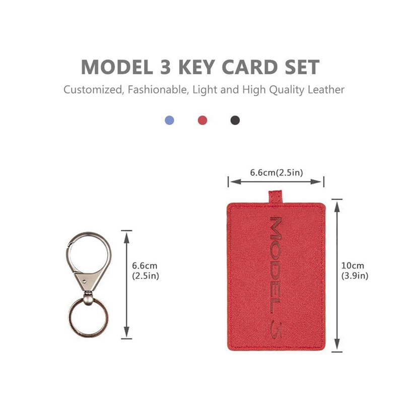 5X-Key-Card-Holder-For-Tesla-Model-3-Anti-Dust-Light-Leather-With-Keychain-S1L2 thumbnail 3