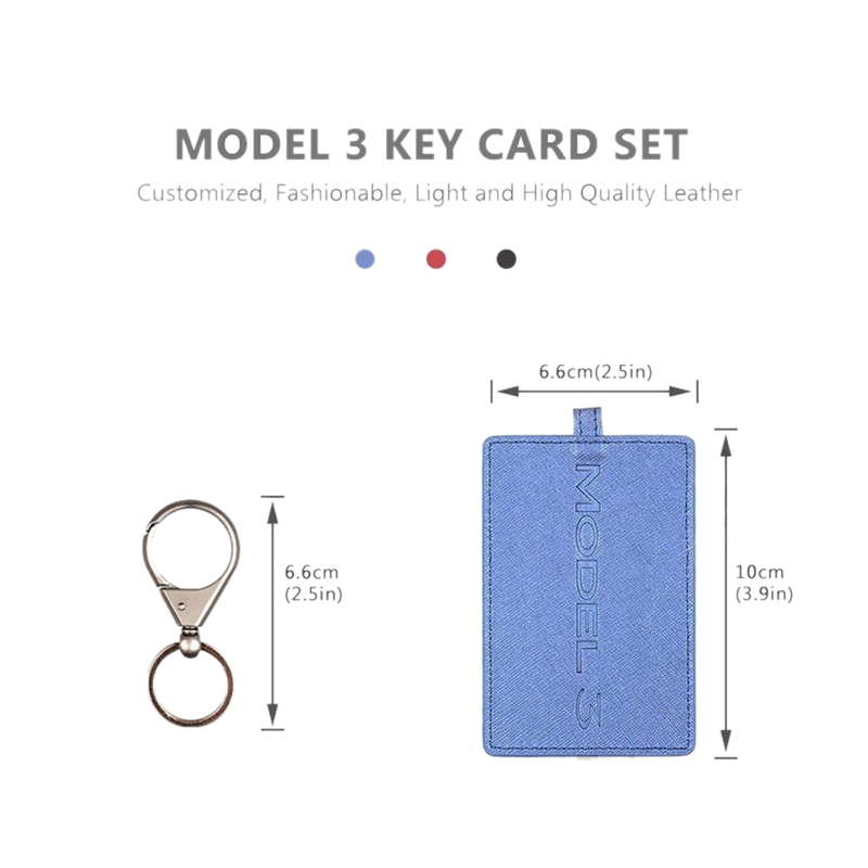 5X-Key-Card-Holder-For-Tesla-Model-3-Anti-Dust-Light-Leather-With-Keychain-S1L2 thumbnail 12