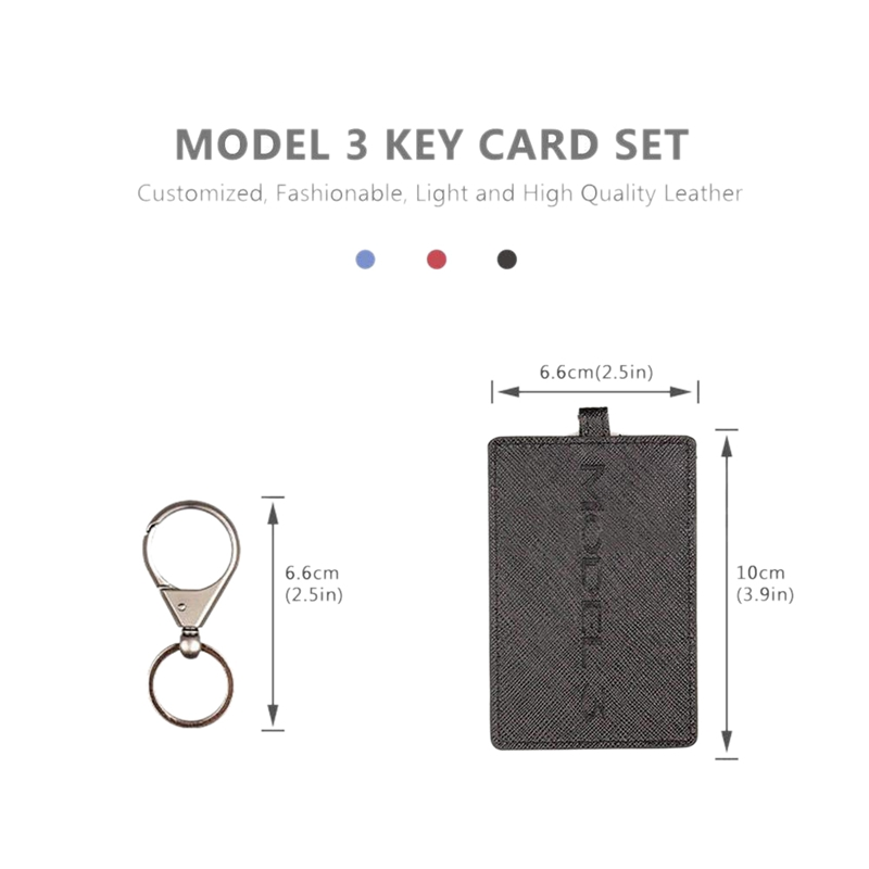 5X-Key-Card-Holder-For-Tesla-Model-3-Anti-Dust-Light-Leather-With-Keychain-S1L2 thumbnail 21