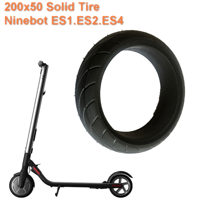 Electric-Scooter-8-Inch-Solid-Tires-Tire-Tires-For-Ninebot-Es1-Es2-Es3-Es4-V5F3 thumbnail 4