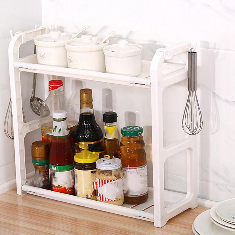 Double-Organisateur-de-Cuisine-Assaisonnement-Stockage-Rack-Crochet-Crochet-W2I2 miniature 7