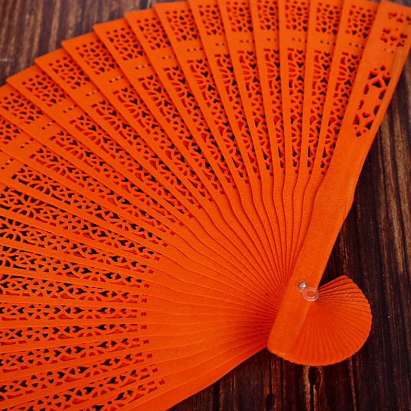thumbnail 13 - 10X-8-Inch-Chinese-Japanese-Folding-Fan-Original-Wooden-Hand-Flower-Bamboo-8O8