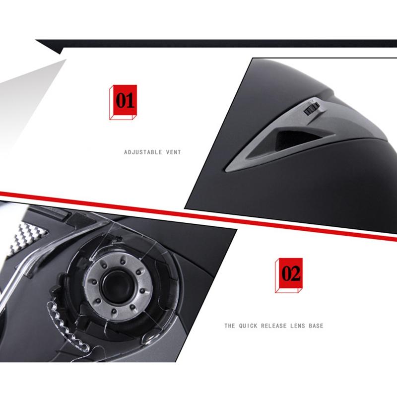 JIEKAI-Moto-Casque-Ouvert-Face-Casque-Double-Lentille-Voiture-ELectrique-de-Voit miniature 4