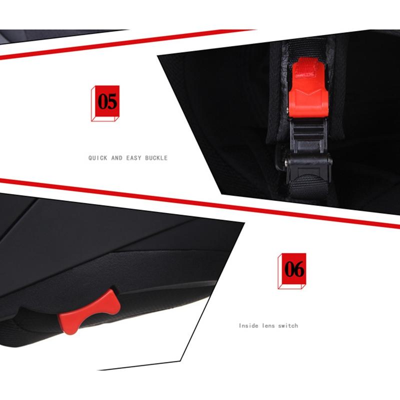 JIEKAI-Moto-Casque-Ouvert-Face-Casque-Double-Lentille-Voiture-ELectrique-de-Voit miniature 6