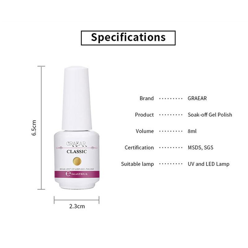 2X-GRAEAR-Nail-Polish-Glue-Set-6-Piece-Set-8Ml-Solid-Color-Nail-Polish-Glue-J9T5 thumbnail 3