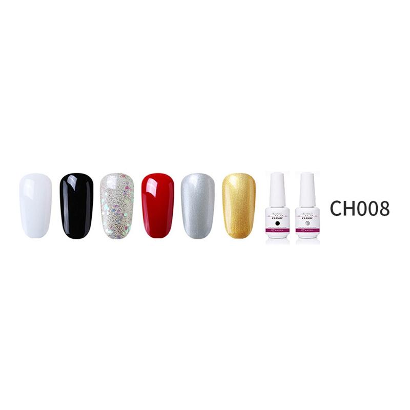 2X-GRAEAR-Nail-Polish-Glue-Set-6-Piece-Set-8Ml-Solid-Color-Nail-Polish-Glue-J9T5 thumbnail 4