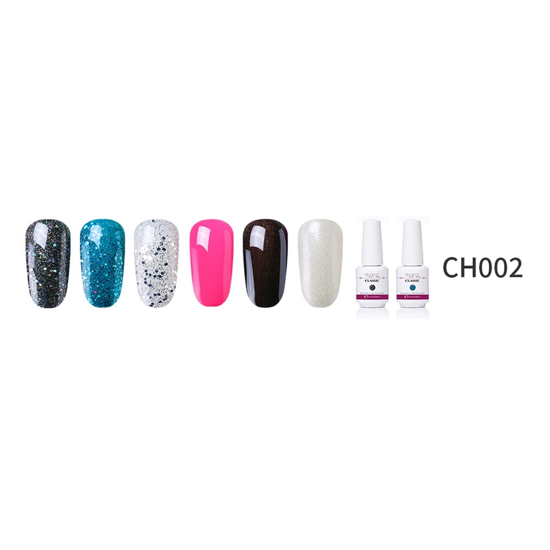 2X-GRAEAR-Nail-Polish-Glue-Set-6-Piece-Set-8Ml-Solid-Color-Nail-Polish-Glue-J9T5 thumbnail 16