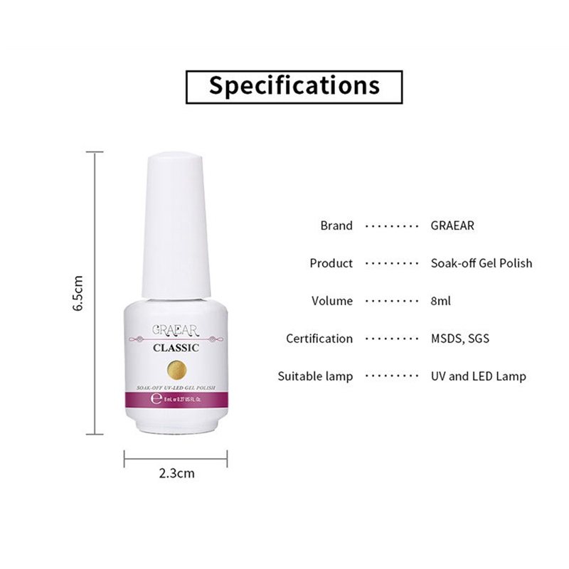 2X-GRAEAR-Nail-Polish-Glue-Set-6-Piece-Set-8Ml-Solid-Color-Nail-Polish-Glue-J9T5 thumbnail 21