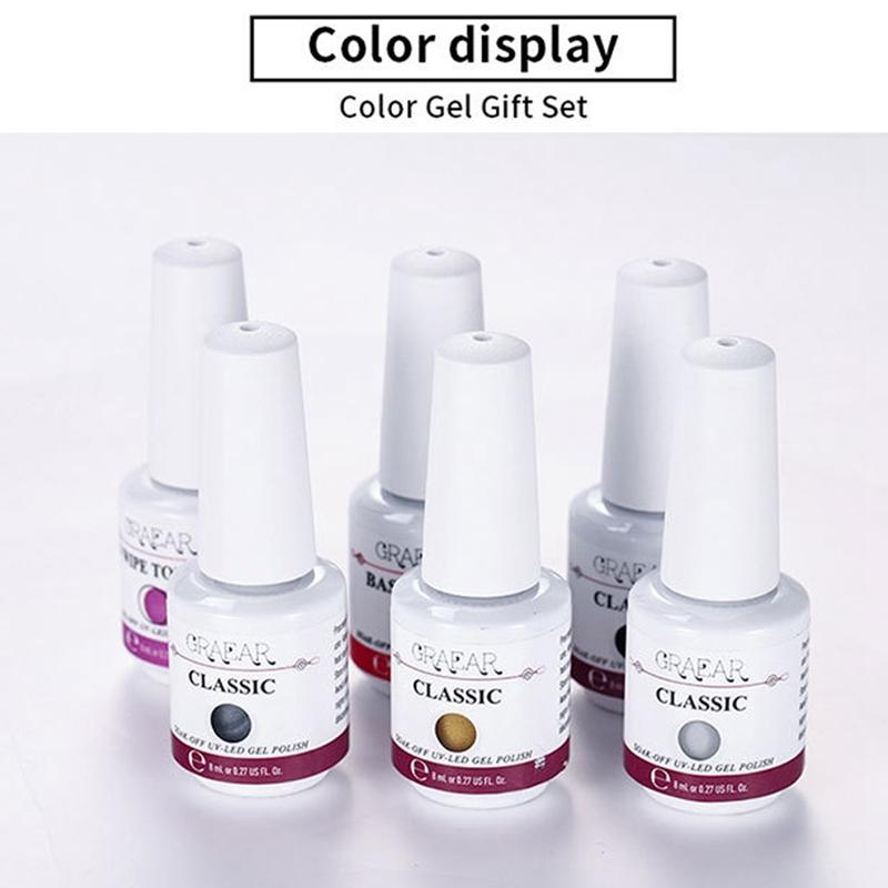 2X-GRAEAR-Nail-Polish-Glue-Set-6-Piece-Set-8Ml-Solid-Color-Nail-Polish-Glue-J9T5 thumbnail 24