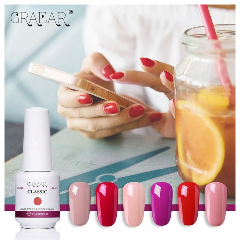 2X-GRAEAR-Nail-Polish-Glue-Set-6-Piece-Set-8Ml-Solid-Color-Nail-Polish-Glue-J9T5 thumbnail 28