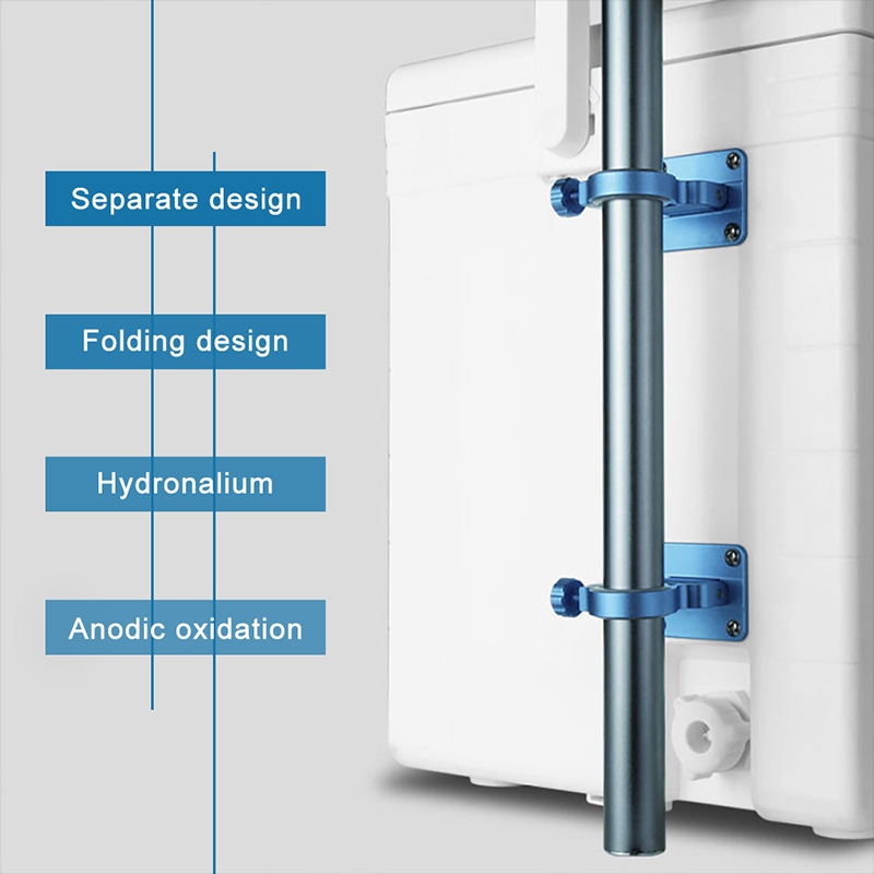 2X-Aluminum-Magnesium-Alloy-Folding-Umbrella-Holder-Stand-For-Fishing-Umbre-I7I4 thumbnail 5