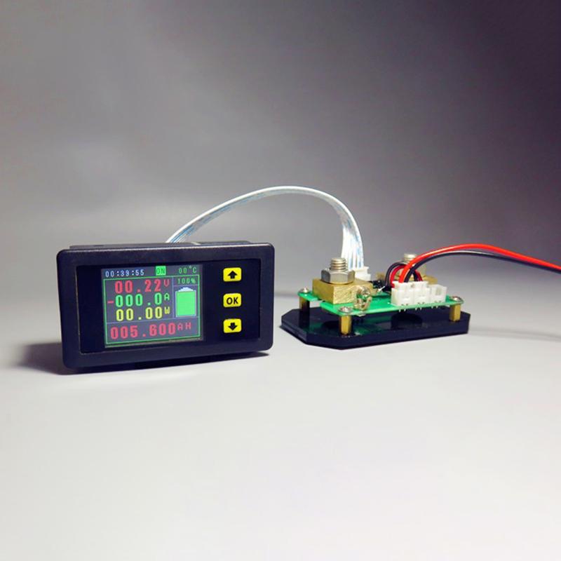Dc-120-V-100-ein-Lcd-Combo-Meter-Spannung-Strom-Kwh-Watt-Meter-12-V-24-V-48-1M7 Indexbild 2