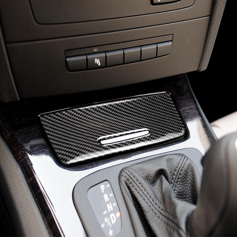 Fibre de carbone voiture volant ruban adhésif autocollants pour BMW E90 E92 E93