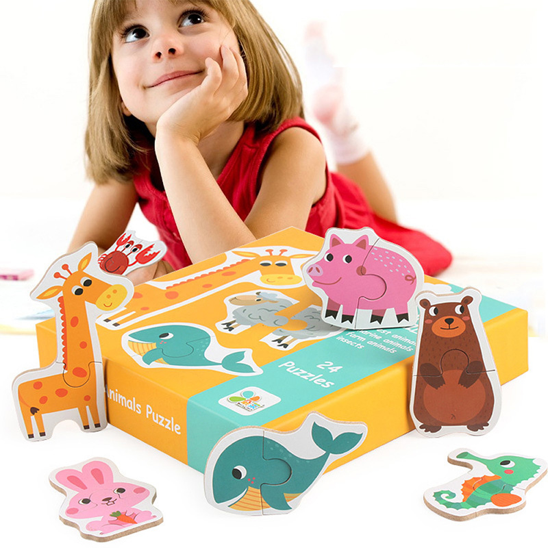 2X-Kids-Baby-Wooden-Wood-Cognition-Puzzle-Learning-Educational-Toy-Christma-U2O5 thumbnail 6