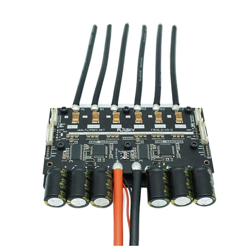 V6.6 DUAL  fsesc 6.6 basato su Vesc 6 con dissipatore in tuttiuminio 200A ESC per ELECTRI S1D3  spedizione e scambi gratuiti.