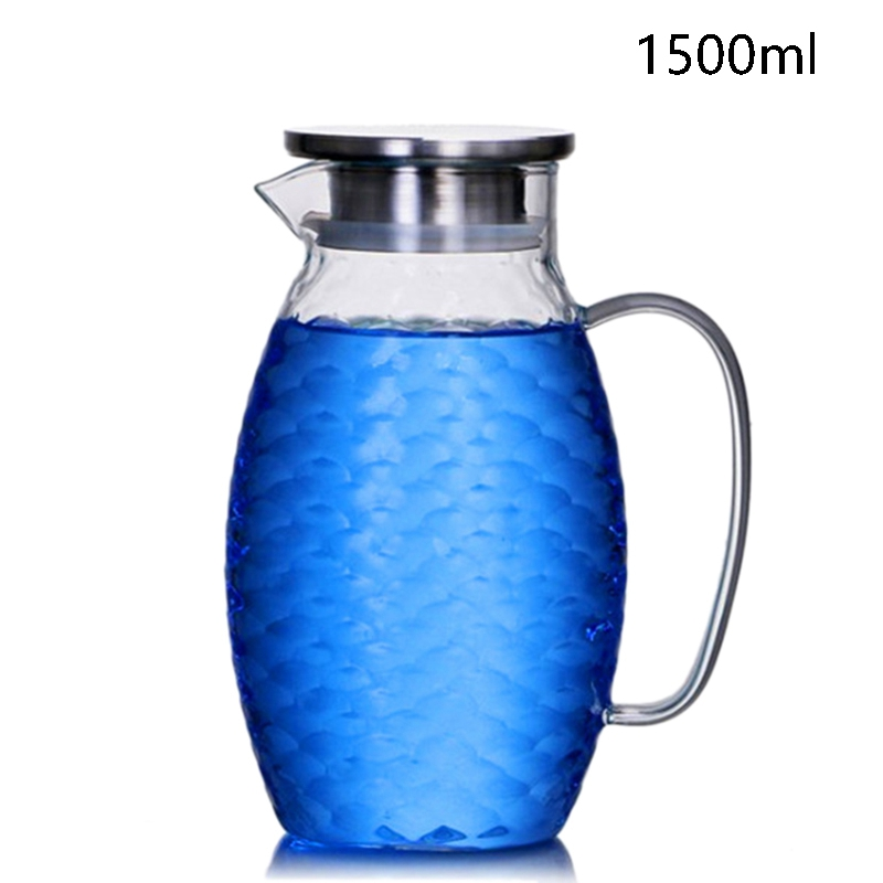 1X-Thick-Heat-Resistant-Hammer-Glass-Cool-White-Open-Kettle-Large-Capacity-L2G8 thumbnail 3