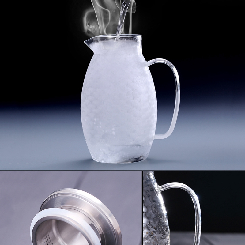 1X-Thick-Heat-Resistant-Hammer-Glass-Cool-White-Open-Kettle-Large-Capacity-L2G8 thumbnail 10