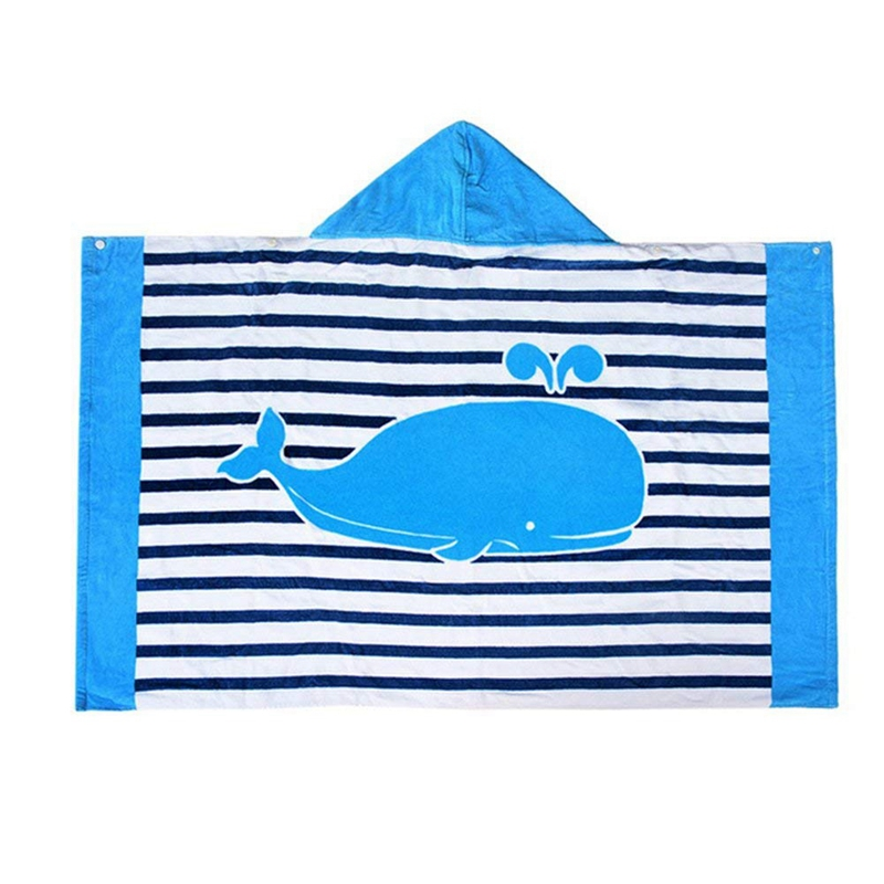 Hooded Bath Towel for Kids Boys Girls 2 to 8 Years Old, Fast