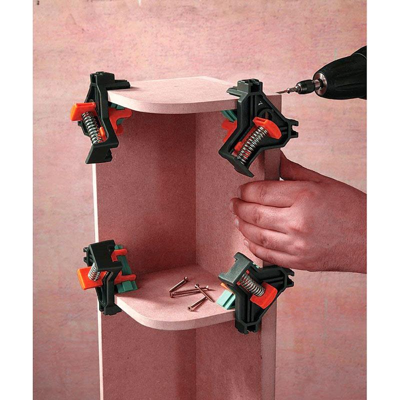 Outil-a-Main-pour-le-Bois-Kit-de-Support-de-Pince-pour-Angle-de-Cadre-de-Ph-E6V6 miniature 6