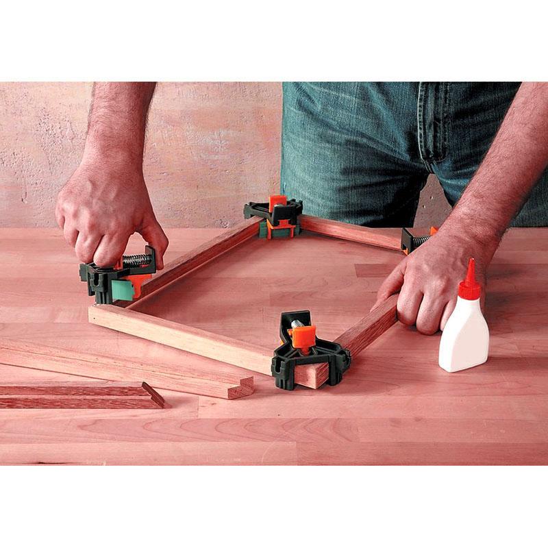 Outil-a-Main-pour-le-Bois-Kit-de-Support-de-Pince-pour-Angle-de-Cadre-de-Ph-E6V6 miniature 7
