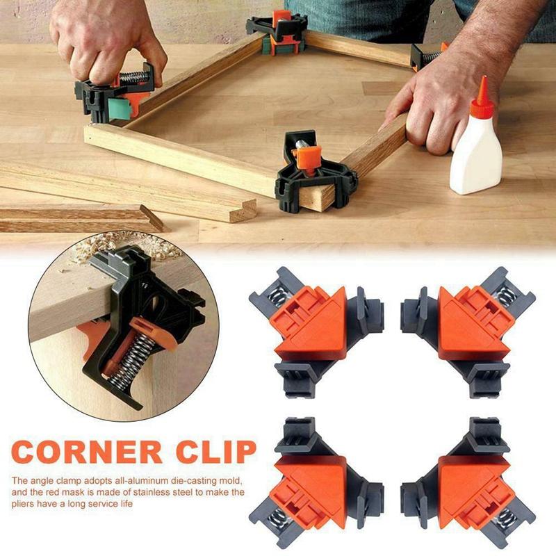 Outil-a-Main-pour-le-Bois-Kit-de-Support-de-Pince-pour-Angle-de-Cadre-de-Ph-E6V6 miniature 10