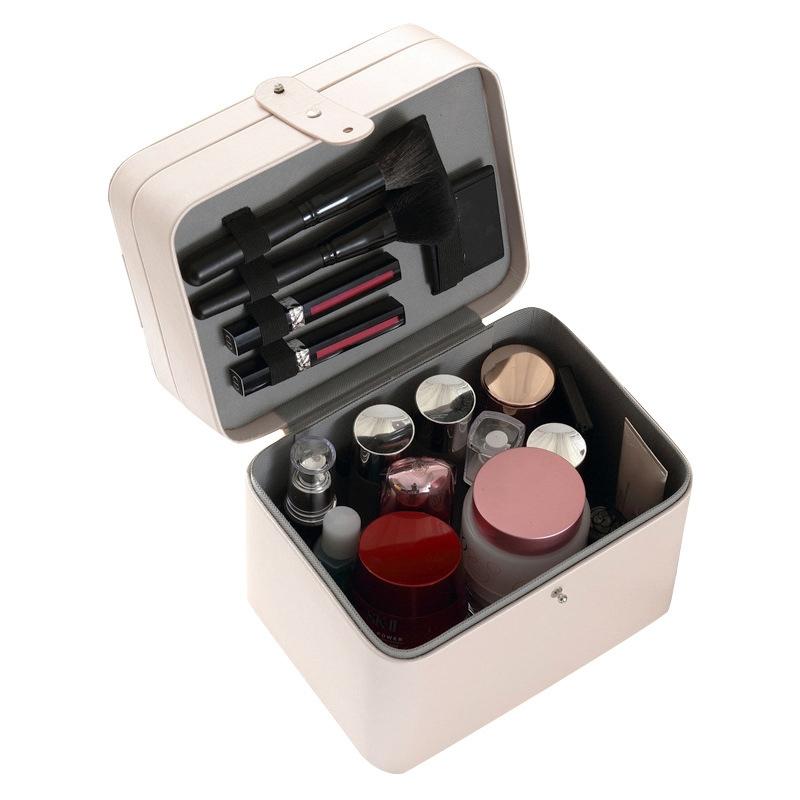 2X-CASEGRACE-Joyero-de-Cuero-ClaSico-Joyero-Exquisito-Estuche-de-Maquillaje-B2K7 miniatura 3