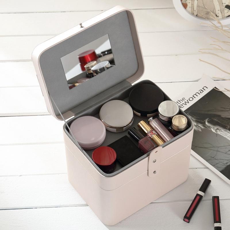 2X-CASEGRACE-Joyero-de-Cuero-ClaSico-Joyero-Exquisito-Estuche-de-Maquillaje-B2K7 miniatura 14