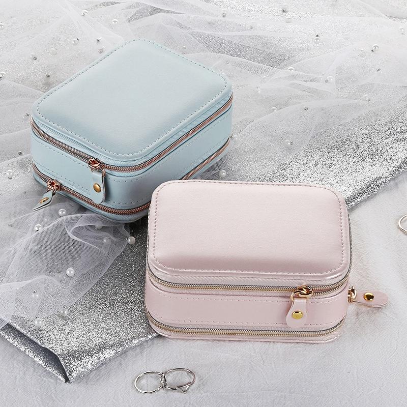 Casegrace-Jewelry-Box-Portable-Storage-Organizer-Zipper-Portable-Display-Tr-H6F2 thumbnail 7
