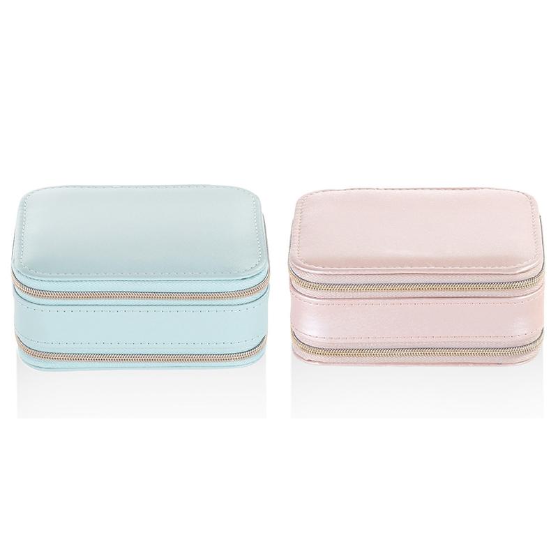 Casegrace-Jewelry-Box-Portable-Storage-Organizer-Zipper-Portable-Display-Tr-H6F2 thumbnail 9
