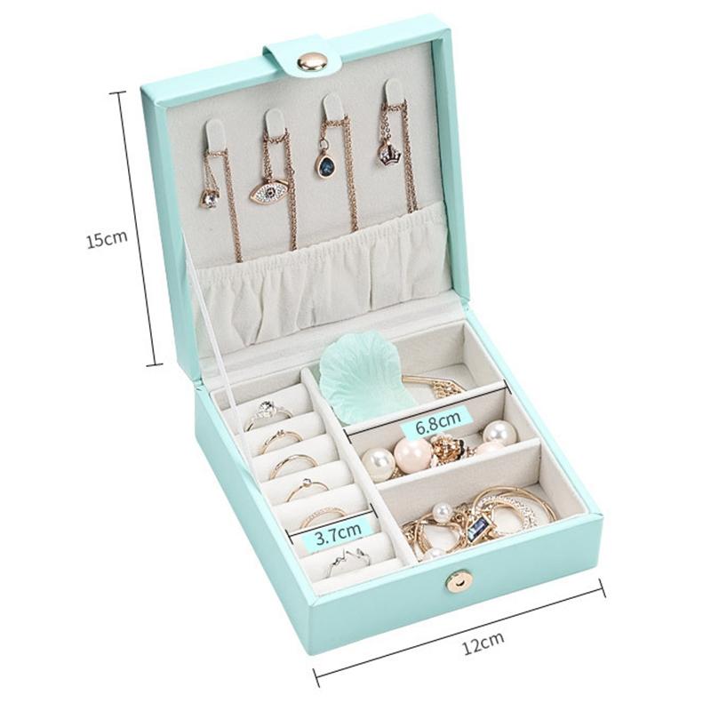 CASEGRACE-Jewelry-Box-Portable-Storage-Organizer-Zipper-Portable-Women-Disp-G5H5 thumbnail 3