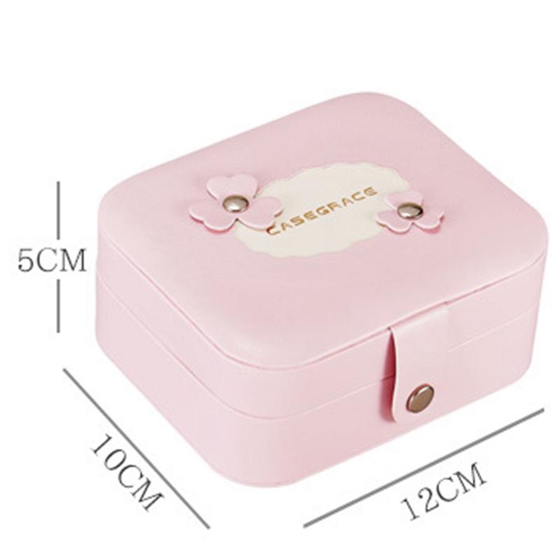 2X-CASEGRACe-Caja-de-Joyeria-PortaTil-de-Viaje-de-Doble-Capa-Napa-Grain-Lea-B3A3 miniatura 12