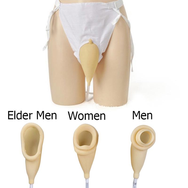 Detalles de Hombres Urinarios Látex Colector de Orina Postrado en Cama Bolsa de Orina Tr F1R