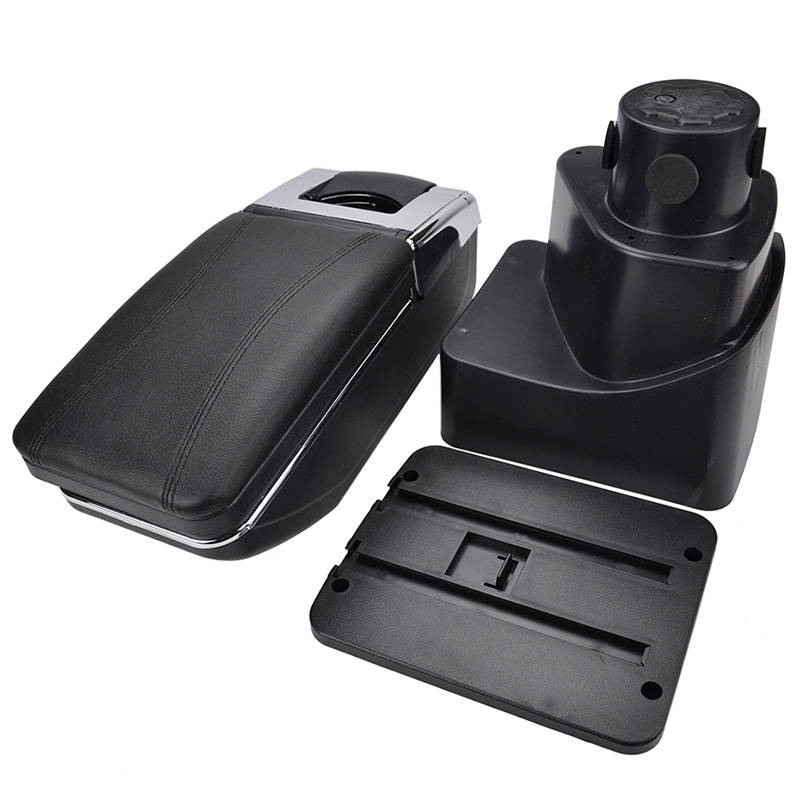 For 2013-2017 F ord Ecosport Car Armrest Center Console Accessories Arm Rest Black