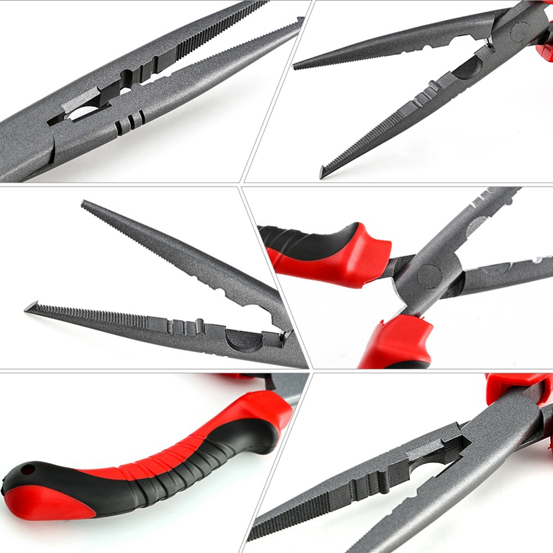 Fishing-Pliers-Fish-Lure-Hook-Remover-Line-Cutter-Scissors-For-Grip-Hooks-S-D3A5 thumbnail 8