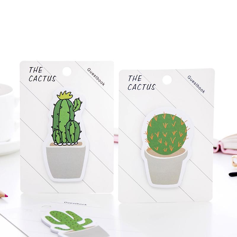 Lote Cactus Verde Nota Adhesiva Etiqueta de la Planta para el Dia J7W5 4 Unids