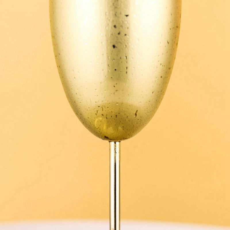 Europe-Luxe-Champagne-Coupe-en-Acier-Inoxydable-RETro-Cocktail-Tasse-en-MET-J2U3 miniature 7