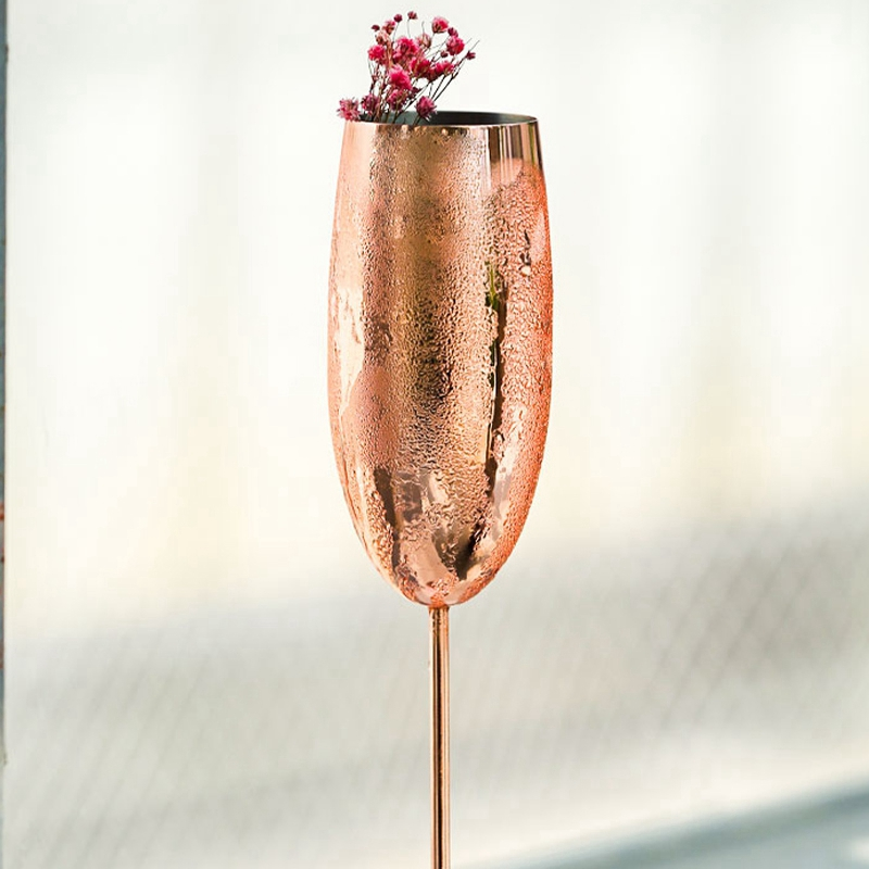Europe-Luxe-Champagne-Coupe-en-Acier-Inoxydable-RETro-Cocktail-Tasse-en-MET-J2U3 miniature 8