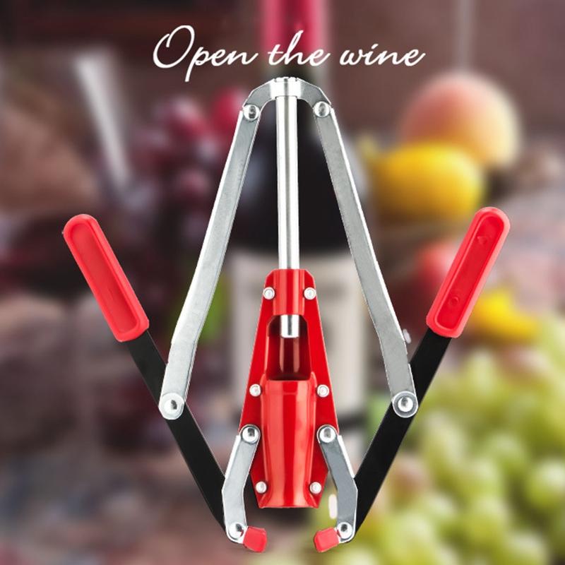 Doble Buje de la Botella de Vino de la Mano Corker de la Mano con el Corcho S5D7 3