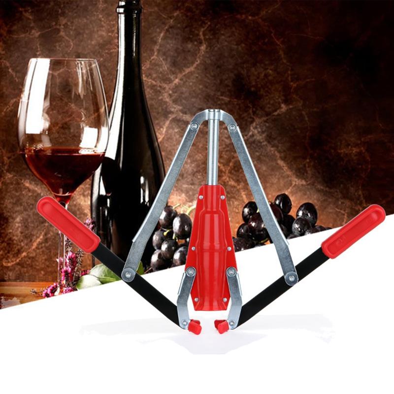 Doble Buje de la Botella de Vino de la Mano Corker de la Mano con el Corcho S5D7 4