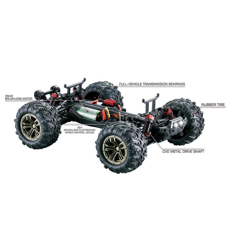 1-16-Coche-de-Control-Remoto-Motor-Sin-Escobillas-Control-Remoto-Traccion-e-T5Z6 miniatura 10