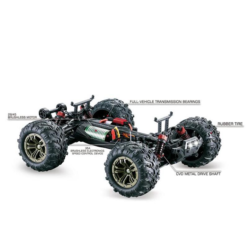 1-16-Motor-Sin-Escobillas-Control-Remoto-Traccion-en-las-Cuatro-Ruedas-Desi-A3H2 miniatura 4