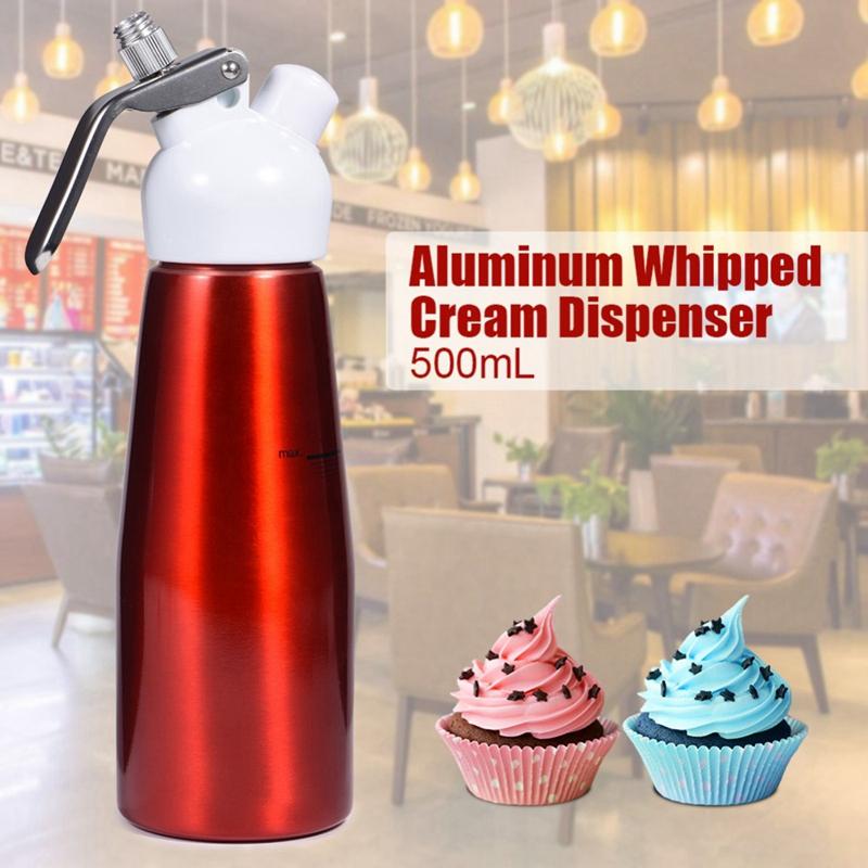 1X-500Ml-Aluminum-Whipped-Dessert-Cream-Butter-Dispenser-Whipper-Foam-MakerM5E8 thumbnail 4