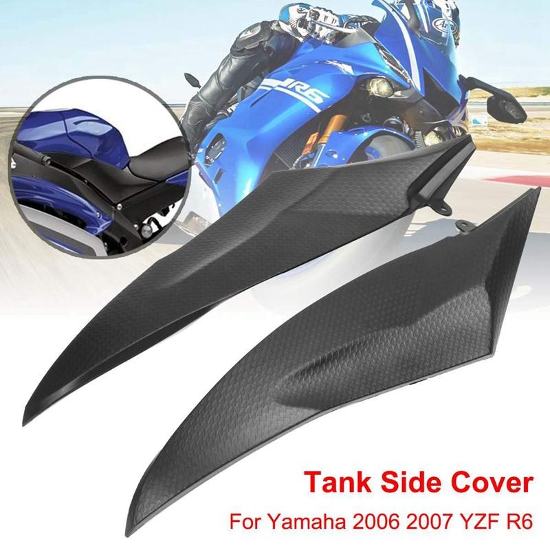 2 pcs couvercle de carénage latéral de moto pour Yamaha 2006-2007 YZF R6