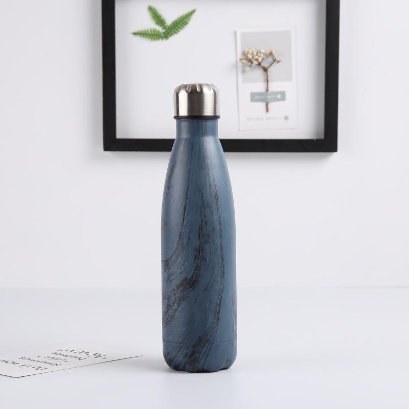Double-Walled-Vide-Bouteille-Isotherme-en-Acier-Inoxydable-Flask-Fuite-D-039-Ea-P8N5 miniature 3