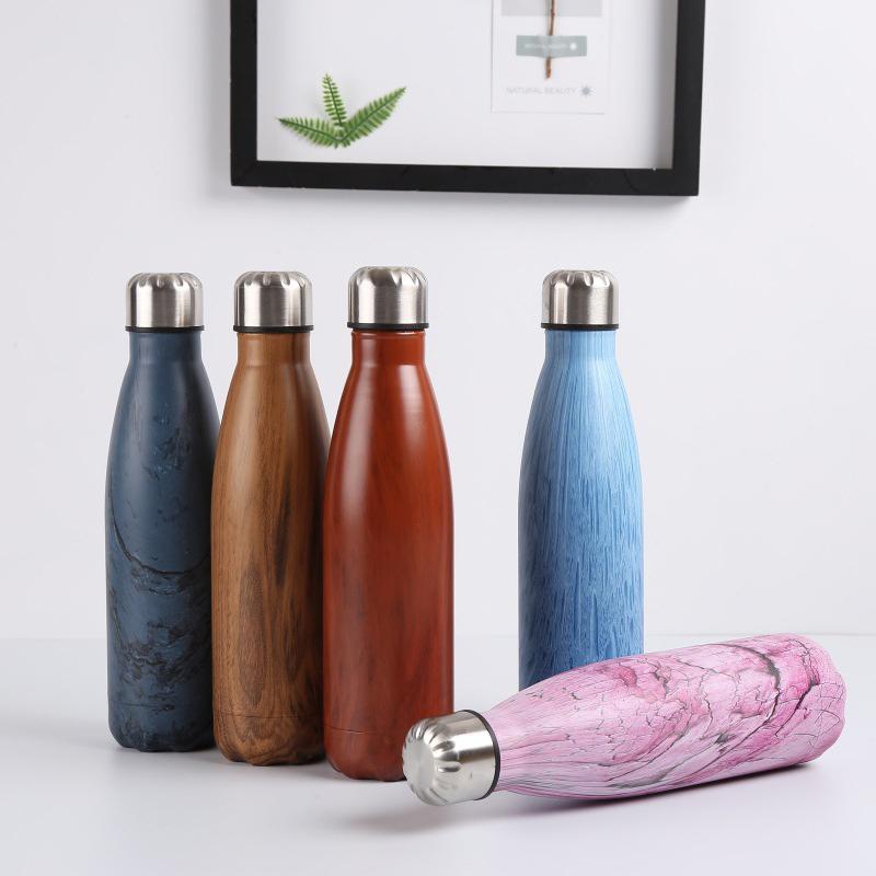 Double-Walled-Vide-Bouteille-Isotherme-en-Acier-Inoxydable-Flask-Fuite-D-039-Ea-P8N5 miniature 6