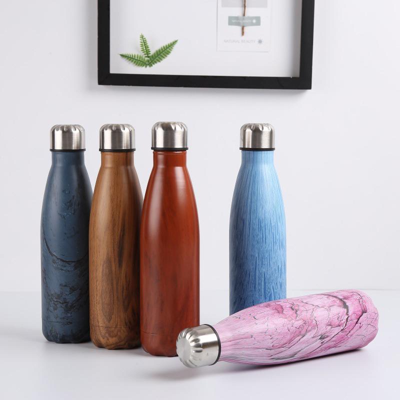 Double-Walled-Vide-Bouteille-Isotherme-en-Acier-Inoxydable-Flask-Fuite-D-039-Ea-P8N5 miniature 13