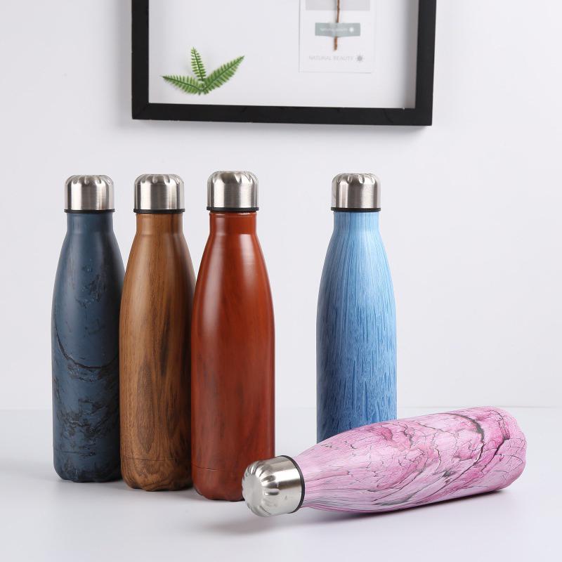Double-Walled-Vide-Bouteille-Isotherme-en-Acier-Inoxydable-Flask-Fuite-D-039-Ea-K7J2 miniature 28